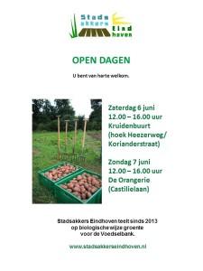 poster open dagen stadsakkers eindhoven 2015